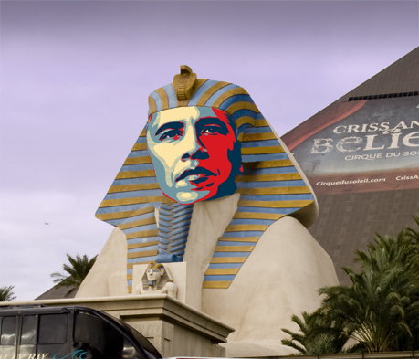 Obama's Face on the Sphinx